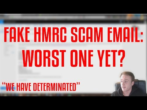 Worst Phishing E-Mail I've Seen! (Fake HMRC Scam)