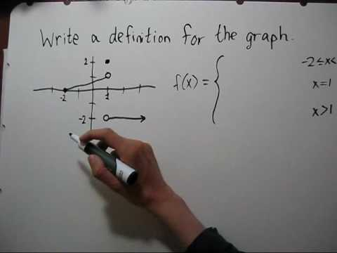 Finding the Formula of a Piecewise Function Given a Graph