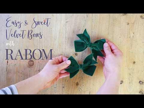 Simple and Easy Velvet Bow