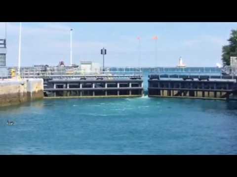 Chicago Lock Opening into Lake Michigan