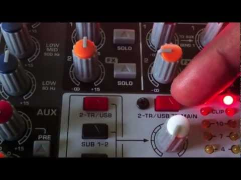 How To Record From the Mixer (Xenyx X1622usb)