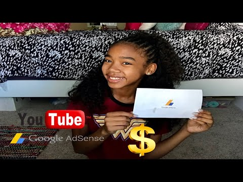 My First YouTube Paycheck  + How To Receive pay If You're under 18