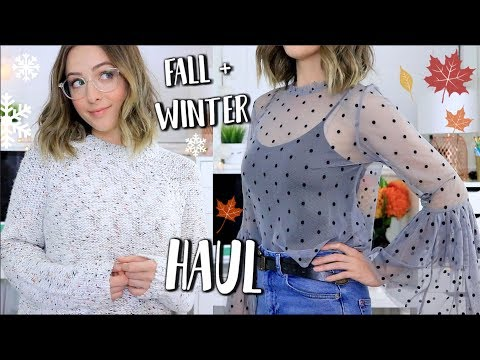HUGE Fall/Winter Everyday Clothing TRY ON Haul!! Topshop, Target, H&M + More!
