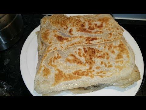 How to make Vegan Roti Canai Malaysian flat bread - Dairy free