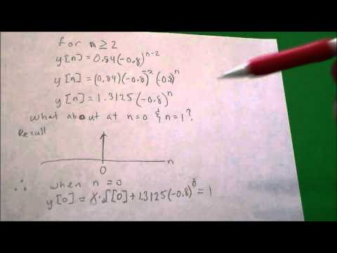 Iterative Solution of Difference Equation (continued)
