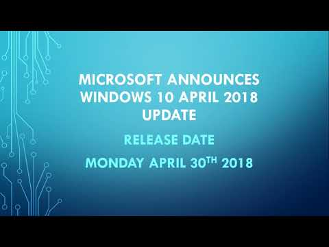 Fixit Microsoft Announces Windows 10 April 2018 update release will be April 30th 2018