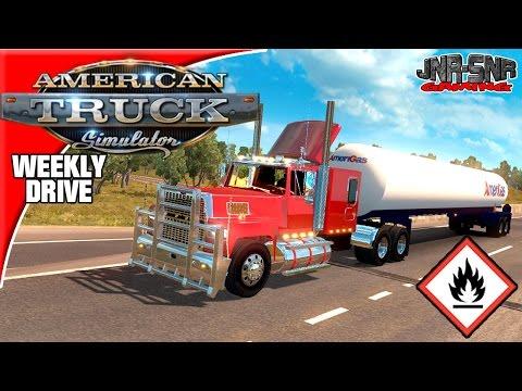 American Truck Simulator Ford LTL9000 Fuel Trailer Weekly Drive