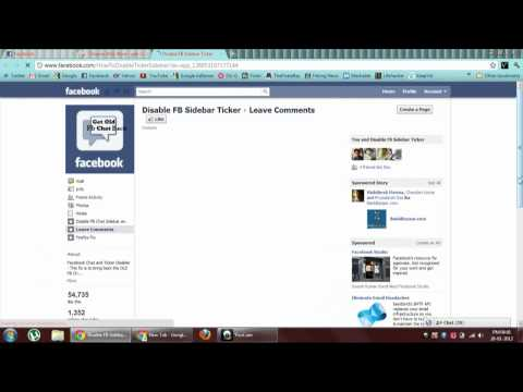 How to get back old Facebook Chat Box and disable Ticker Only for chrome users