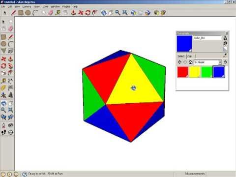 Making an Icosahedron in Google SketchUp