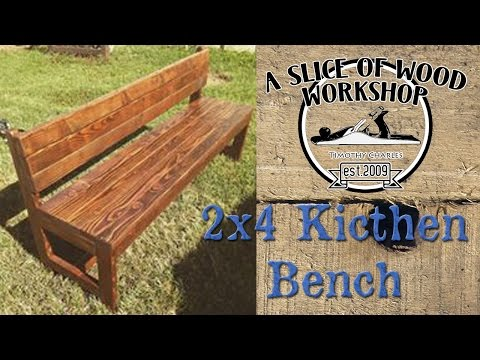 Easy Made 2x4 Kitchen Bench!!!