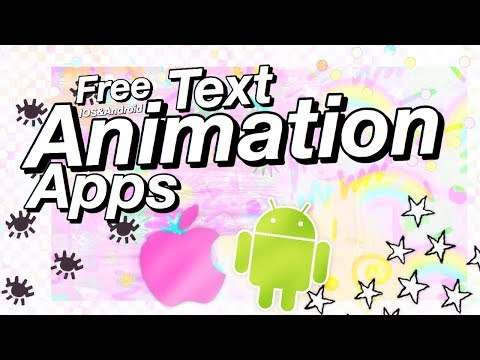 Free Apps For Making Intros (Animated Text) -  (IOS/Android)