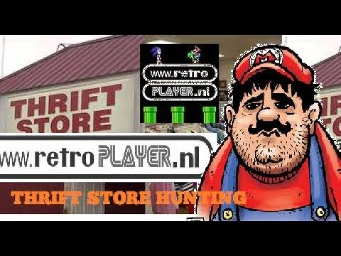 Hunting in thrift stores /kringloopwinkels (part11) for video games,  dvd's, comics and board games