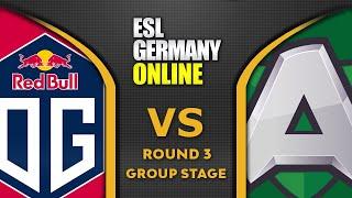 OG vs ALLIANCE - BIG MATCH! WIN = PLAYOFFS - ESL ONE Germany 2020 Highlights Dota 2