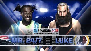 KOFI KINGSTON vs. LUKE HARPER - Madden 18 Tournament Rd. 2 - Gamer Gauntlet