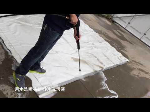 Tent Fabric Manual Cleaning Steps 01