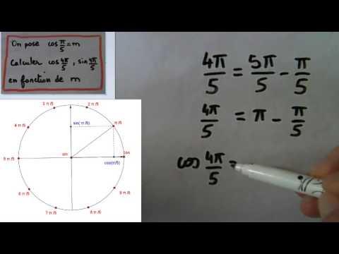 Exprimer cos et sin (4pi/5) en fonction de cos(pi/5)