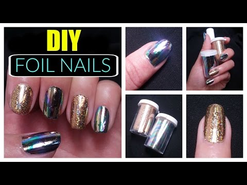 DIY: Holographic Mirror Foil Nails! | Easy