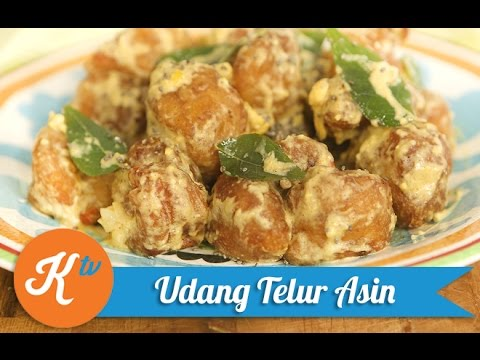 Resep Udang Telur Asin (Golden Shrimp Recipe)   YUDA BUSTARA