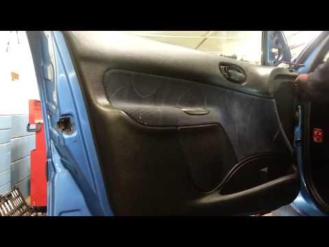 How to Change Replace Front Door Panel Peugeot 206