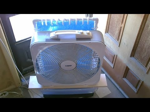 My Newest Large Area Evap Air Cooler! - 100F air (in) 71F air out! - New Data! - ez DIY