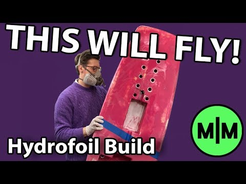 How to Make a Foam and Glassfibre Surfboard (Electric Hydrofoil Project)