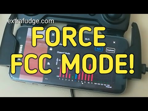 How to force FCC mode on DJI drones outside the United States