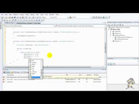 Visual Studio 2008: C# Tutorial: Paint with the mouse HD