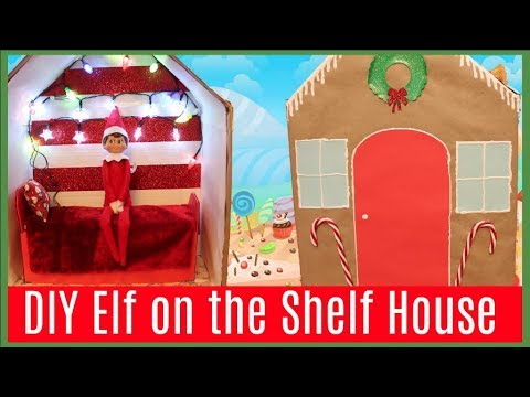 DIY Elf on the Shelf House + Elf on the Shelf Caught Moving?!