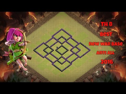 TH8 Best  New War Base Anti All 2016 Latest