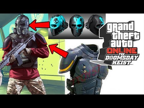 GTA 5 Online The Doomsday Heist DLC - NEW Tactical Ballistic Helmet & Super Armor! Gameplay Trailer