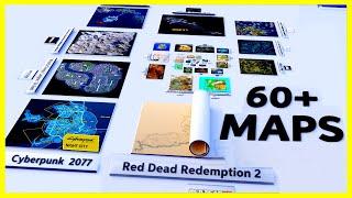 VIDEO GAME Maps Size Comparison   2020 🗾