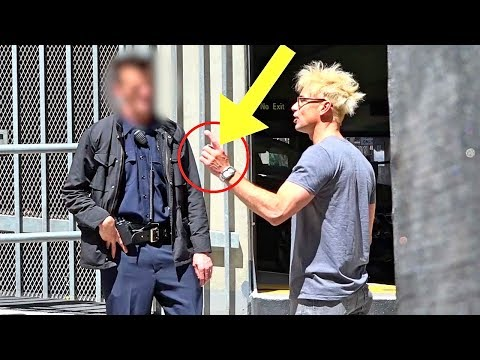 SELLING POT IN FRONT OF A COP PRANK!!! (BAD IDEA!!!)