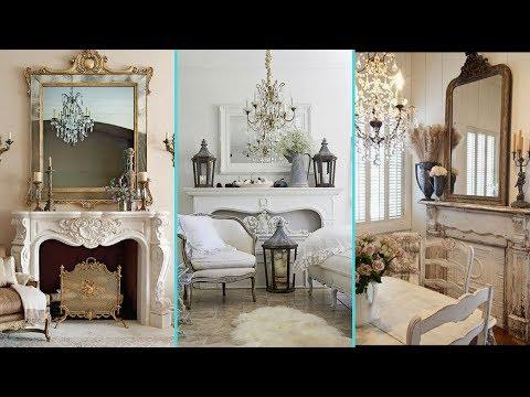 ❤ DIY Shabby Chic Style Faux Fireplace decor ideas ❤| Home decor & Interior design | Flamingo Mango