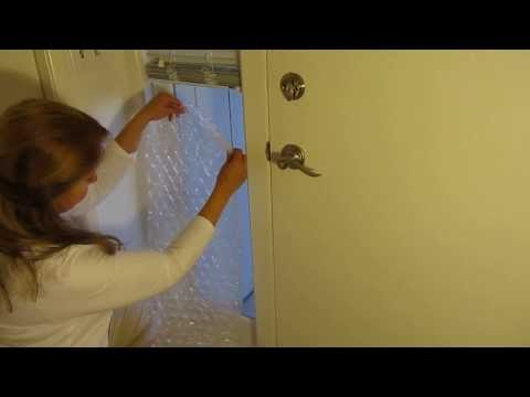 Insulate A Window With Bubble Wrap