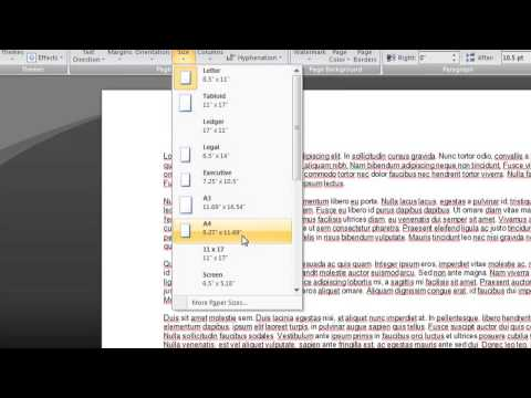 How to Reduce the Page Size for Printing in Microsoft Word : Microsoft Word Basics