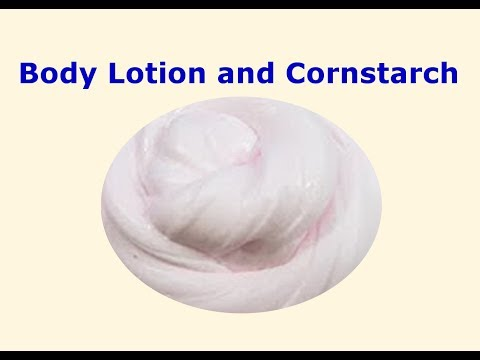 how to make slime with lotion and cornstarch !! slime with lotion and cornstarch