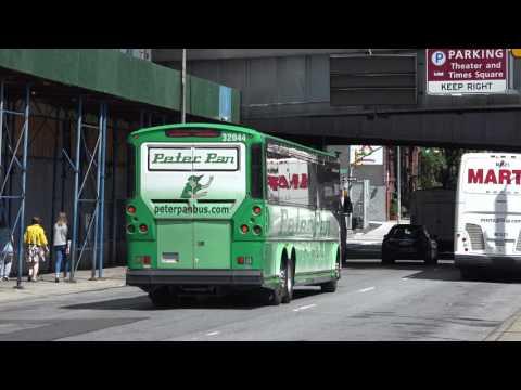 1 PETER PAN MCI BUS 32044 NEAR THE PORT AUTHORITY BUS TERMINAL NEW YORK CITY
