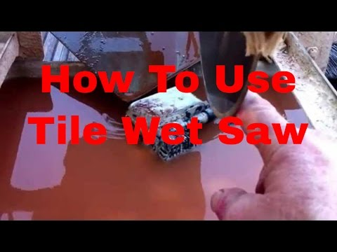 How to cut Porcelain & Ceramic Tile using a Wet Saw #DaveBlake Licesne Tile Contractor