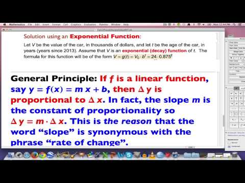 Quick Precalc #7: Fitting an Exponential Function to Two Data Points (One is the Initial Value)