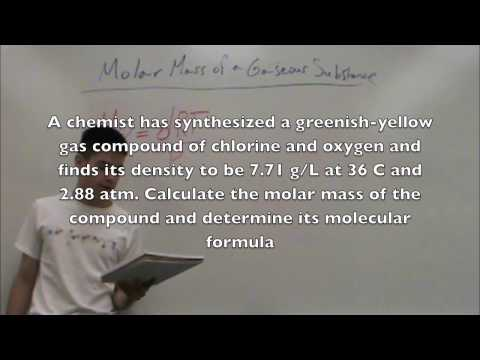 How to find the molar mass of a gas
