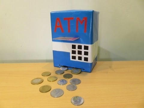 How to make a  ATM Machine Piggy Bank  Mini ATM Machine at Home - Easy Tutorial