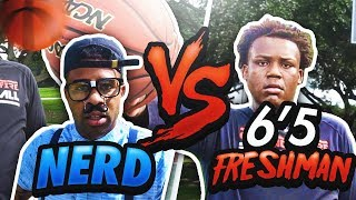 NERD vs 6'5 HIGHSCHOOL FRESHMAN!!!! 😳😨 LOSER GETS PAINFUL PUNISHMENT!!! (GONE WRONG)