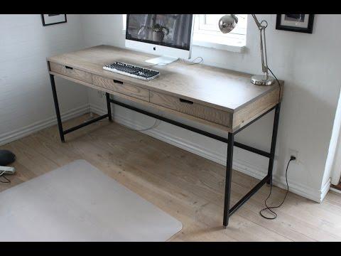 Making a modern oak desk