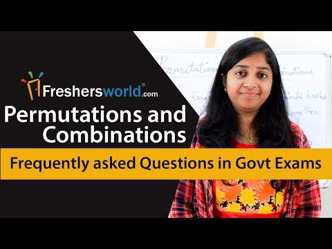 Aptitude Made Easy - Permutations and Combinations, Frequently asked questions in Govt Exams