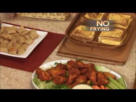 Copper Crisper 2 Piece Oven Air Fryer Pan Set - As Seen On TV