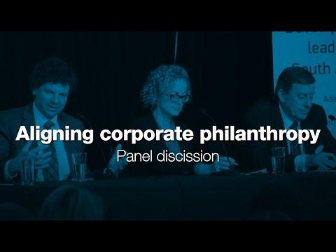 Aligning corporate philanthropy - Panel discussion