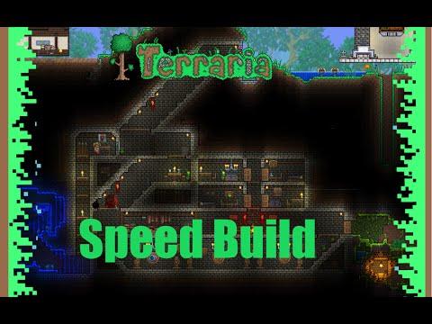 Terraria speed build - Underground vault!