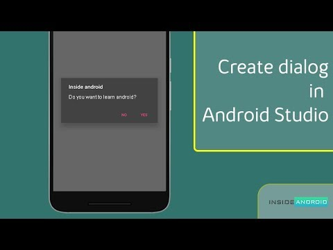 Create Dialog in Android Studio Inside Android