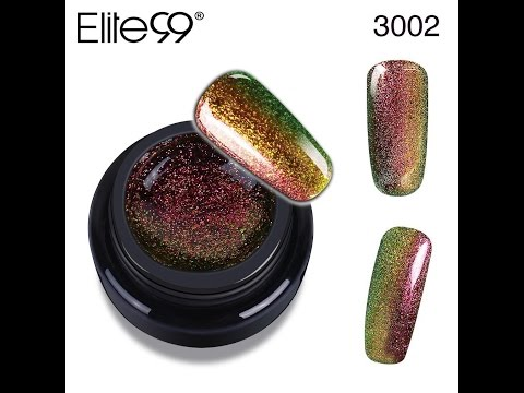New Chameleon Colour Changing Metallic Glitter Starry Holo Gel Polish by Elite99