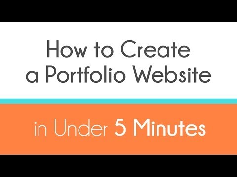 How to Create a Portfolio Website in Under 5 Minutes